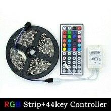 5 м 2835 SMD Светодиодная лента 300 светодиодный s RGB и одноцветная лента/44 клавиши пульт дистанционного управления для украшения освещения fita de