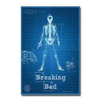 Плакат гобелен Во все тяжкие Breaking Bad Шелковый