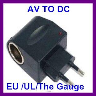 12V Household Car Charger Cigar Cigarette Lighter 110V-220V AC to 12V DC EU Car Power Adapter Converter free shipping