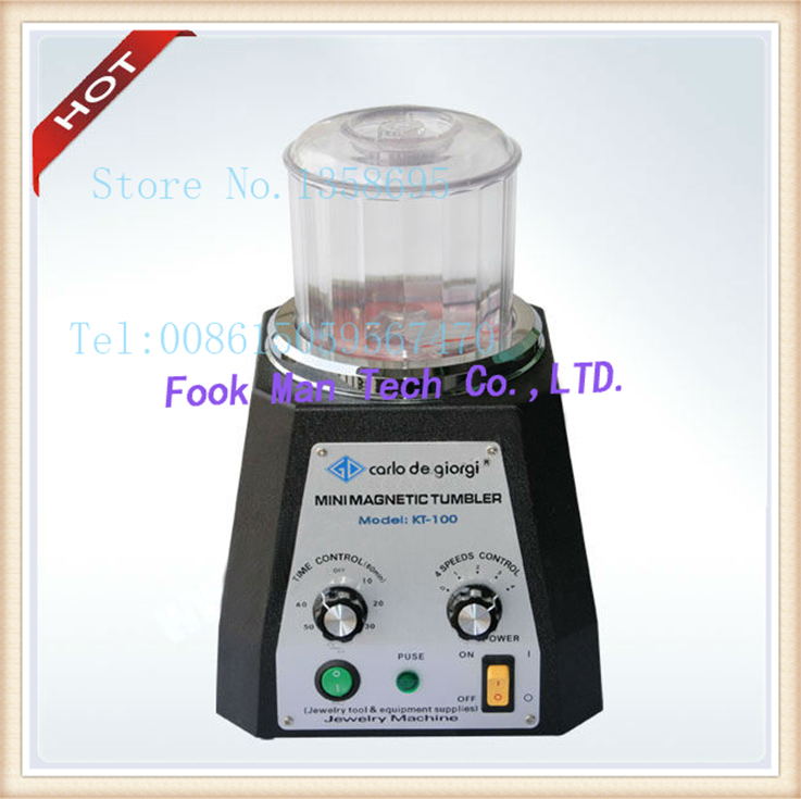 kt100 Magnetic Tumble, Mini Magnetic,Jewelry Polisher Finisher Finishing machine,Jewelry Polishing Machine