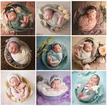 Studio Baby Photography Accessories Wooden Potato Pot Photo Props Girl Infant Posing for