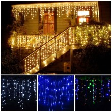 3-24 м светодиодный гирлянда для занавесок, сказочный светильник светодиодный Рождественская гирлянда для помещений и улицы, вечерние, для сада, сценический декоративный светильник s 110 В 220 В