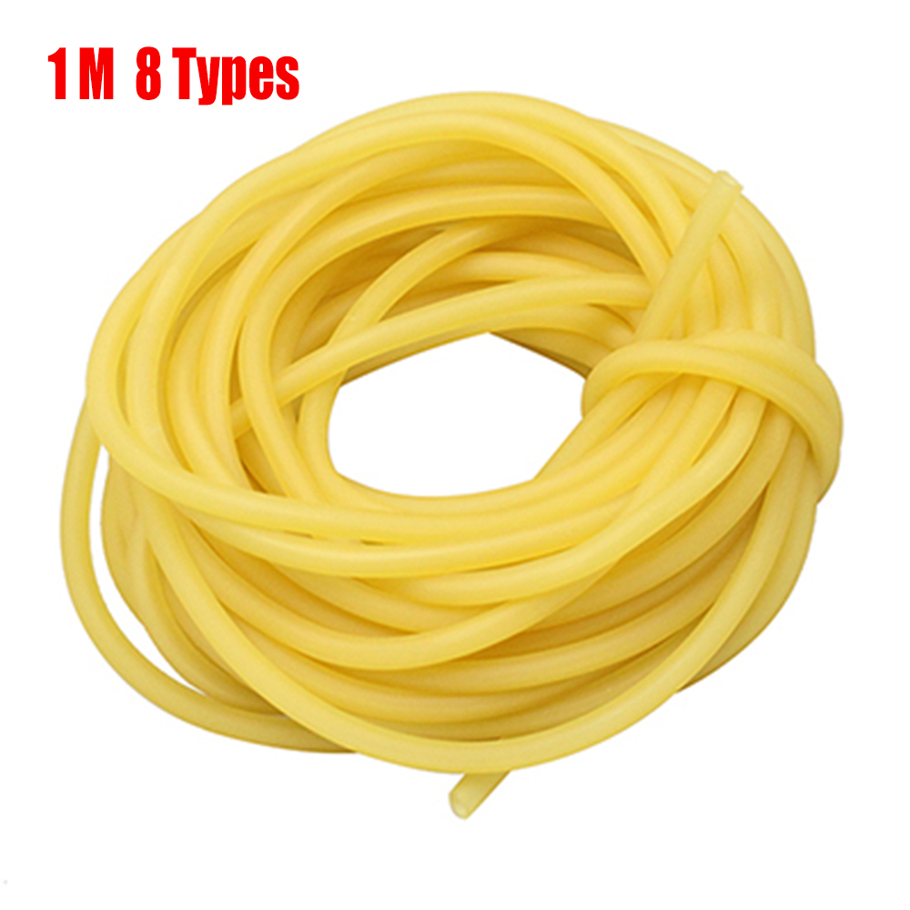 1m Hunting Natural Slingshot Elastic Latex Tube Catapult Ruber Band Fitness Yoga Tactical Bow Shooting Hunting Accessories