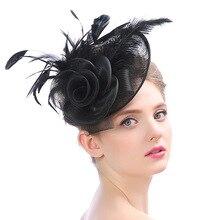 Bridal Headwear Hats Bridals Accessories Wedding Hairstyle Flower Hair Comb Fascinators Birdcage Veil