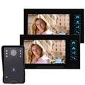 "7"" 1000TVL Color Video Door Phone Video Intercom Doorbell IR Night Vision Camera Video Intercom Monitor F4345A2 Fshow"