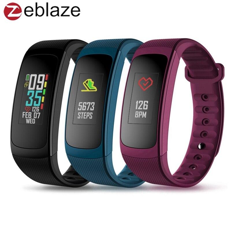 Zeblaze PLUG C Reflective Color LCD Wristband Smart Electronics bluetooth Fitness Tracker Always-on Heart Rate Smartwatch Watch