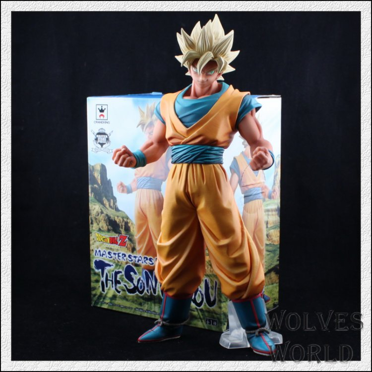 Free Shipping Anime Dragon Ball Z Super Saiyan Son Gokou Son Goku PVC Action Figure Collection Model Toy 12 30cm DB006 anime figure 32cm dragon ball z super saiyan son goku lunar new year color limited ver pvc action figure collectible model toy