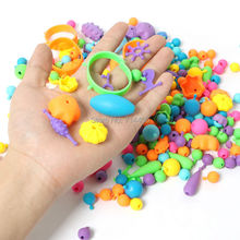 novelty toy DIY pop beads 300pcs Snap-Together jewelry Accessories Arty Set fashion toy for girl kid,plastic building block gift