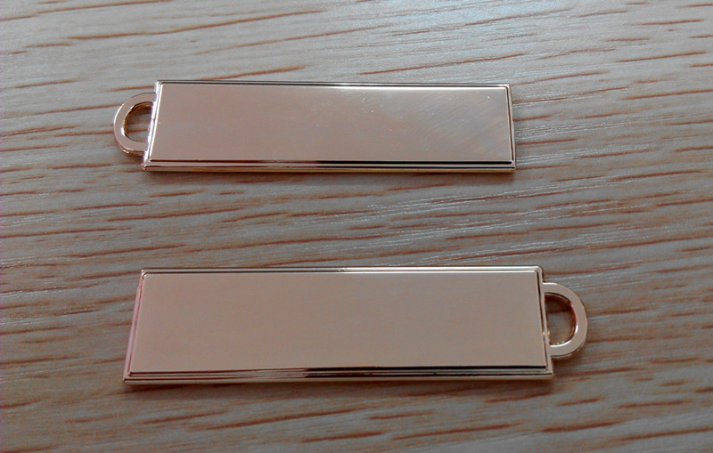 Индивидуальные одежды металлические этикетки молния аксессуары цинковый сплав металла ползунки мода покрытие съемники брелок для ключей