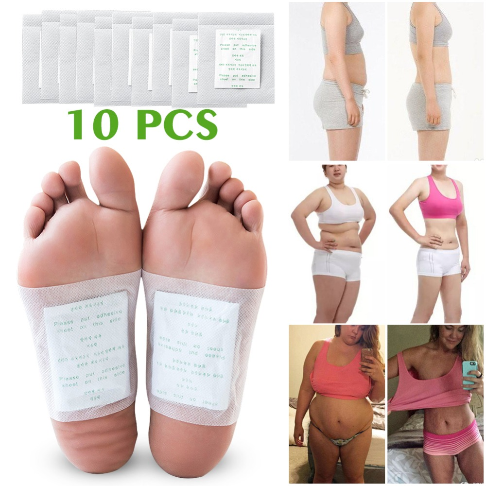 10Pcs Bamboo Vinegar Foot Patches Improve Sleep Feet Stickers Pedicure Tools Callus Remover Weight Loss Help Medical Equipment