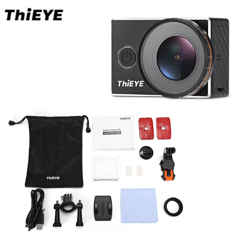 Original ThiEYE V5s 4K WIFI Zoom Action Camera 1080P/ 30fps LCD 60M Waterproof 170 Degree Wide-Angle Mini 12MP Sports Camara thieye i30 wifi 1080p 30fps 1 5 tft lcd action camera водонепроницаемый рекордер для автомобилей dvr