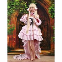 Ainclu Hot Selling Pink Costume Fashion Lovely Chii Chic Chobits Cosplay Costume Adult Costume For Free