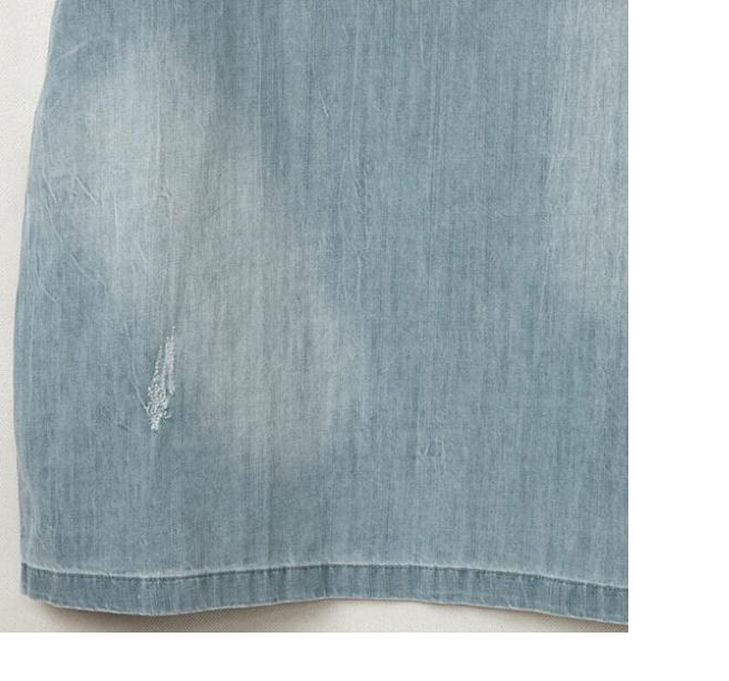 Women's Clothing Mytl Light Blue Denim Dress Loose Short Sleeve Jeans Dress O-neck Loose Casual Washed Beaded Elegant Evening Party Lady Dresses