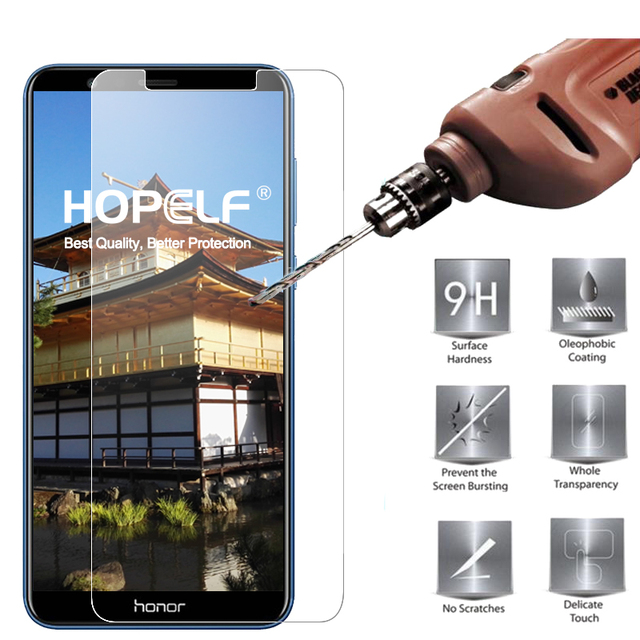 HOPELF Tempered Glass for Huawei Honor 7X Screen Protector 9H 2.5D Phone...