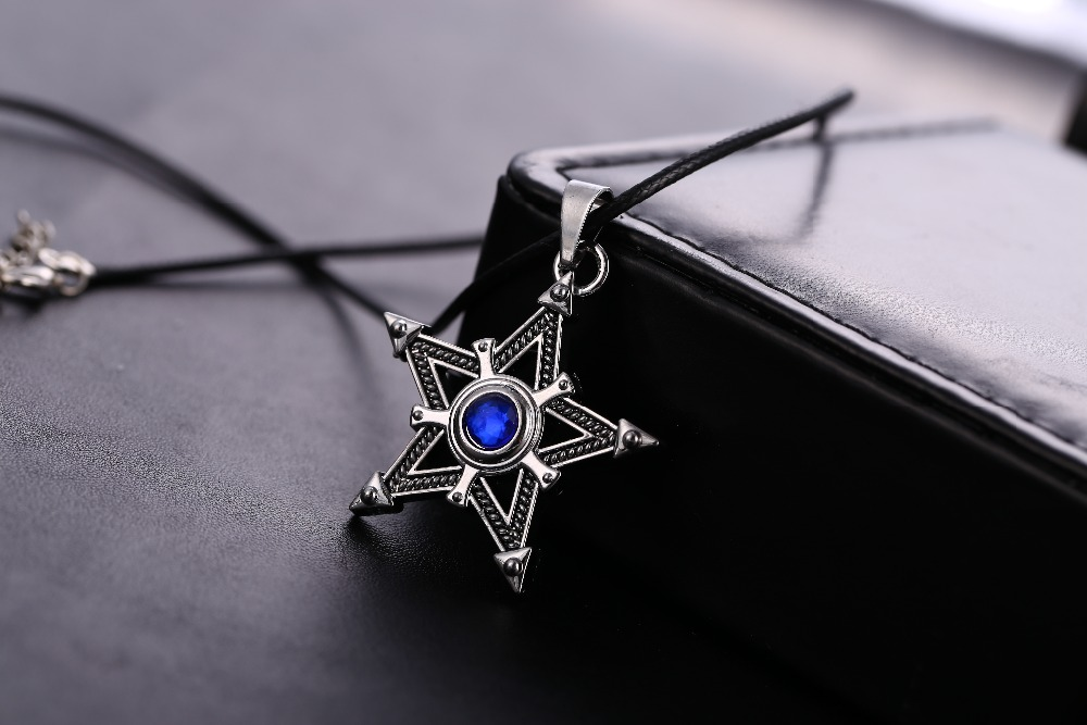 topaz itm s pendant loading ray image with sapphire star silver blue is natural