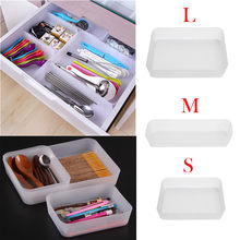 Dropshipping Adjustable Drawer Kitchen Cutlery Divider Case Makeup Storage Box Home Organizer(China)