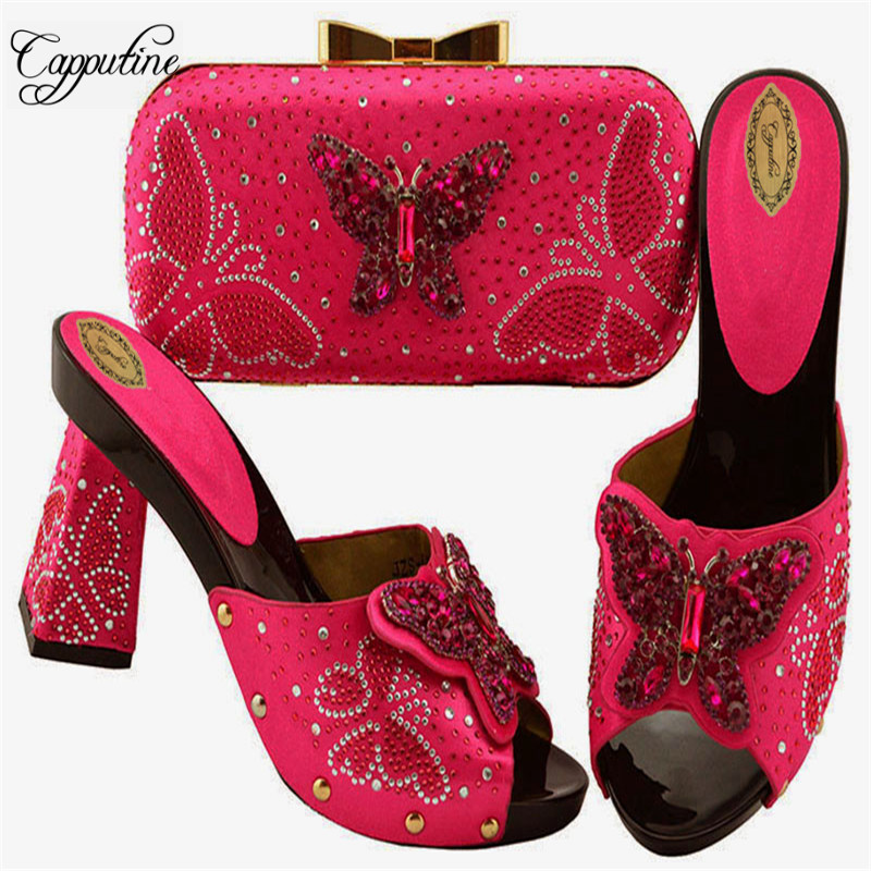 Capputine High Quality African Pretty Shoes And Bags Set 2019 New Design African Slipper Shoe And Bag Set Free Shipping Capputine High Quality African Pretty Shoes And Bags Set 2019 New Design African Slipper Shoe And Bag Set Free Shipping