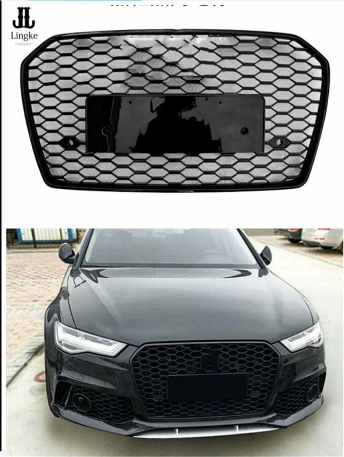 A6 C7 Front Grill Mesh Grille for Audi A6 C7 S6 RS6 2012-15 To RS6 Quattro Style