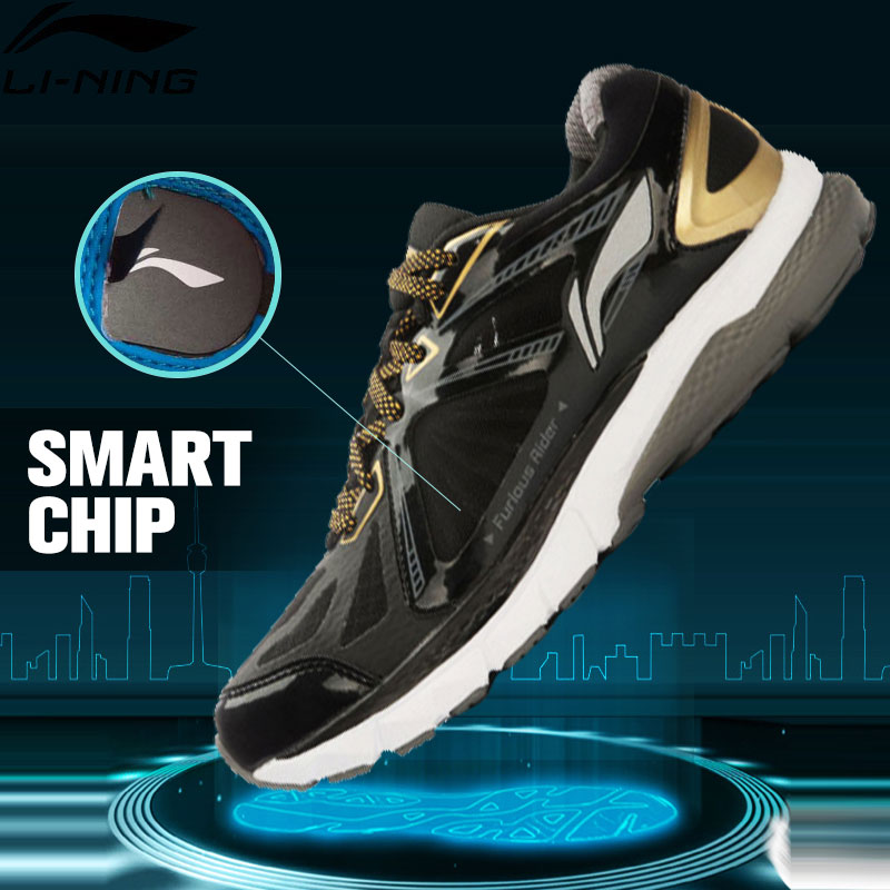 Li-Ning Men's FURIOUS RIDER Running Shoes Smart Chips TUFF Stability Sneakers PROBARLOC LiNing Sports Shoes ARHL043 XYP424 original li ning men professional basketball shoes