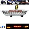Para yamaha yzf r1 yzfr1 yzf-r1 2002-2013 motocicleta led integrado tail light turn signal blinker claro