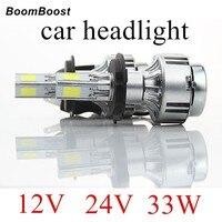 BoomBoost 2x LED Car Headlight 12v 24V 33W 3000LM LED Bulbs Head Lamp Light 5202 9004