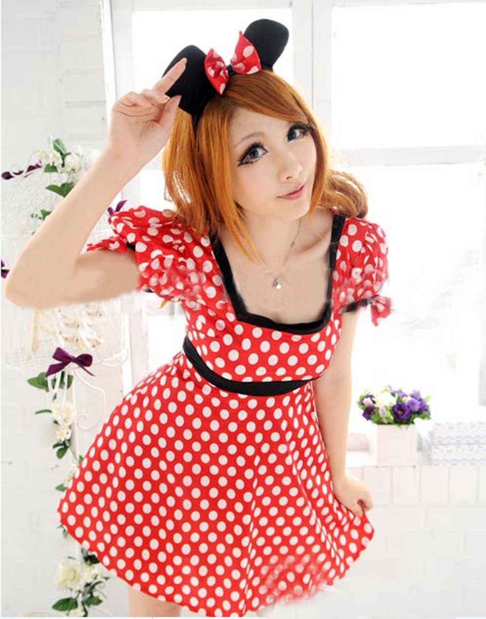 Sexy Minnie Mouse Christmas Halloween Party Women Cosplay Fancy