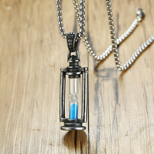 Vintage Hourglass Necklaces Men Stainless Steel Unisex Necklaces Pendants For Women Necklace Jewelry Wholesale vintage hourglass necklaces men stainless steel unisex necklaces pendants for women necklace jewelry wholesale