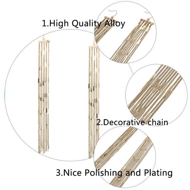 Lzhlq винтажные длинные висячие серьги для женщин геометрические