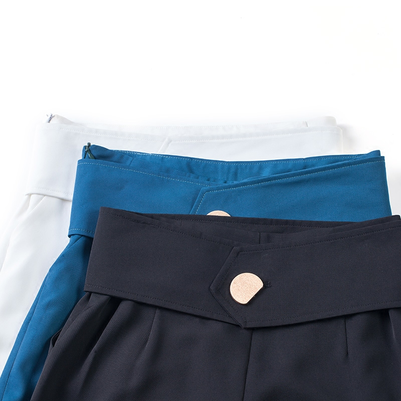 ACRMRAC женские повседневные брюки весна и осень высокая талия брюки тонкие однотонные прямые брюки длинные брюки женские - 5