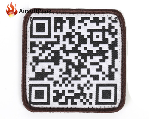 Hunting Military Fans Square Embroidered QR Code Patch Fabric Badge For Outfit Tactical Wargame CS Helmet Accessories Badge