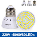 Super Bright GU10 MR16 E27 LED Spotlight 220V 240V Bombillas Bulb 48/60/80 LEDs Lighting 2835SMD LED Lamps Indoor