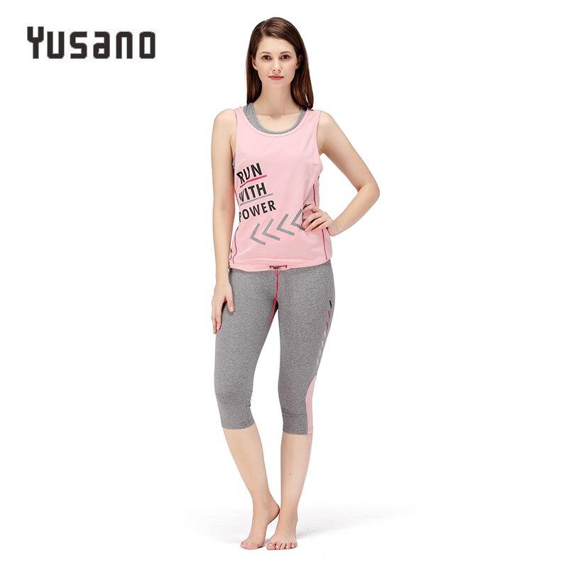 Yusano Women   Pajama     Sets   Shorts Cotton Sleeveless Sleepwear Letter Print Nightwear Casual Homewear Clothes 3 Pieces   Sets   Vest