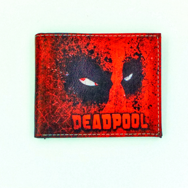 marvel New Mutants Deadpool short purse with zipper wallet dragon ball xv game kids gift small wallets zip fastener money tray marvel comics stan lee the new mutants 98 dead pool 1st appearance unsigned 11x17 comic cover photograph