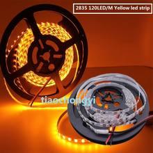 5 m 2835 smd 600 leds amarelo tira conduzida flexível dc12v não-impermeável