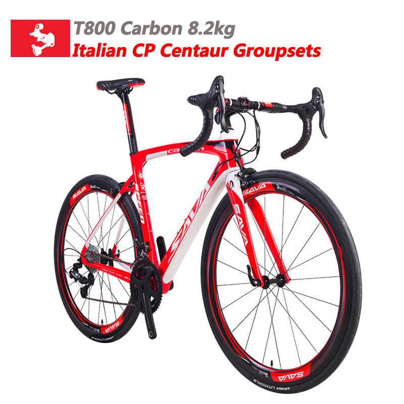 Carbon Road Bike 8.2kg Carbon fiber Road bike Carbon 700c racing bike Complete Road bicycle  with Campagnolo Centaur 22 speeds