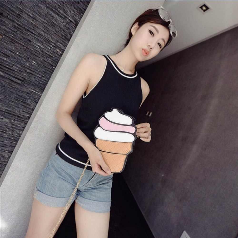 Velishy 1 PC nowa moda lody Chic lato torba na ramię specjalny kubek ciasto kształt Messenger torby Crossbody torba