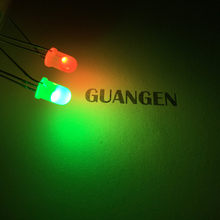 1000PCS 5MM/F5 Red And Yellow-gree Two Color LED Common Anode Diffused Bicolor Light-Emitting Diode LED Light Lamp Wide Angle(China)