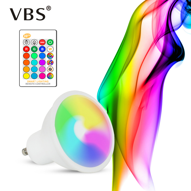 1Pcs/4Pcs LED RGB Bulb GU10 RGBW LED Lamp 110V 220V  RGBWW High Power Lampada 16 Color Changeable With IR Remote Controller