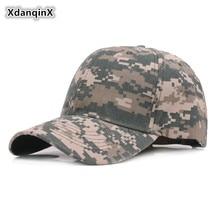 XdanqinX Mens Jungle Camouflage Baseball Caps Adjustable Head Size Climbing Visor Hat Snapback Womens Hip Hop Tongue Cap NEW