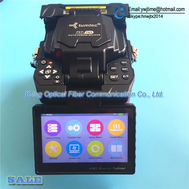DHL free shipping 2017 the best quality tumtec FST 16S FTTH optical fiber fusion splicer core