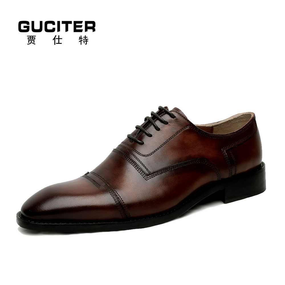 Free shipping Handmade Goodyear Shoes italian leather soles custom made red brown retro boss men bespoke dress shoes Oxford skp136 custom made goodyear 100% genuine leather handmade oxfords shoes men s handcraft dress formal shoes large plus size