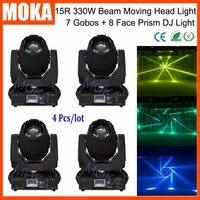 4 Pcs/lot 7 Color 7 Gobos DMX 8 Face Prism Bar Big Moving Head Beam Light 600W Power Consumption Spot Beam Light