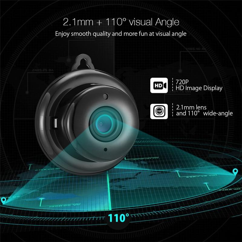 DIGOO DG-MYQ 2.1mm Lens 720 P Kablosuz Mini WIFI Gece Görüş - Güvenlik ve Koruma - Fotoğraf 4