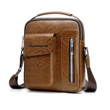цены на Crossbody Bag Men Business Casual Single Shoulder pack Men's Messenger pack Pu Leather Crossbody Bags For High Quality Male Bags  в интернет-магазинах