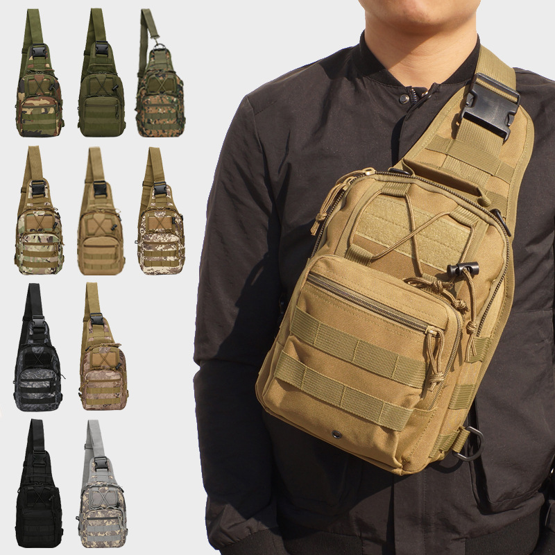 MOONBIFFY Outdoor Shoulder Military Backpack Camping Travel Hiking Trekking Bag