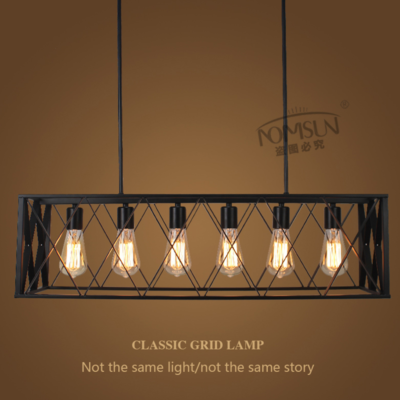 Loft vintage pendant lights retro industrial Restaurant Coffee Bedroom fixture Lighting Bar Kitchen lamp iron pulley