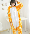 Adult Onesie Children Giraffe Pajamas Jumpsuit Cosplay Costume Cartoon Animal Sleepwears Design For Toilet