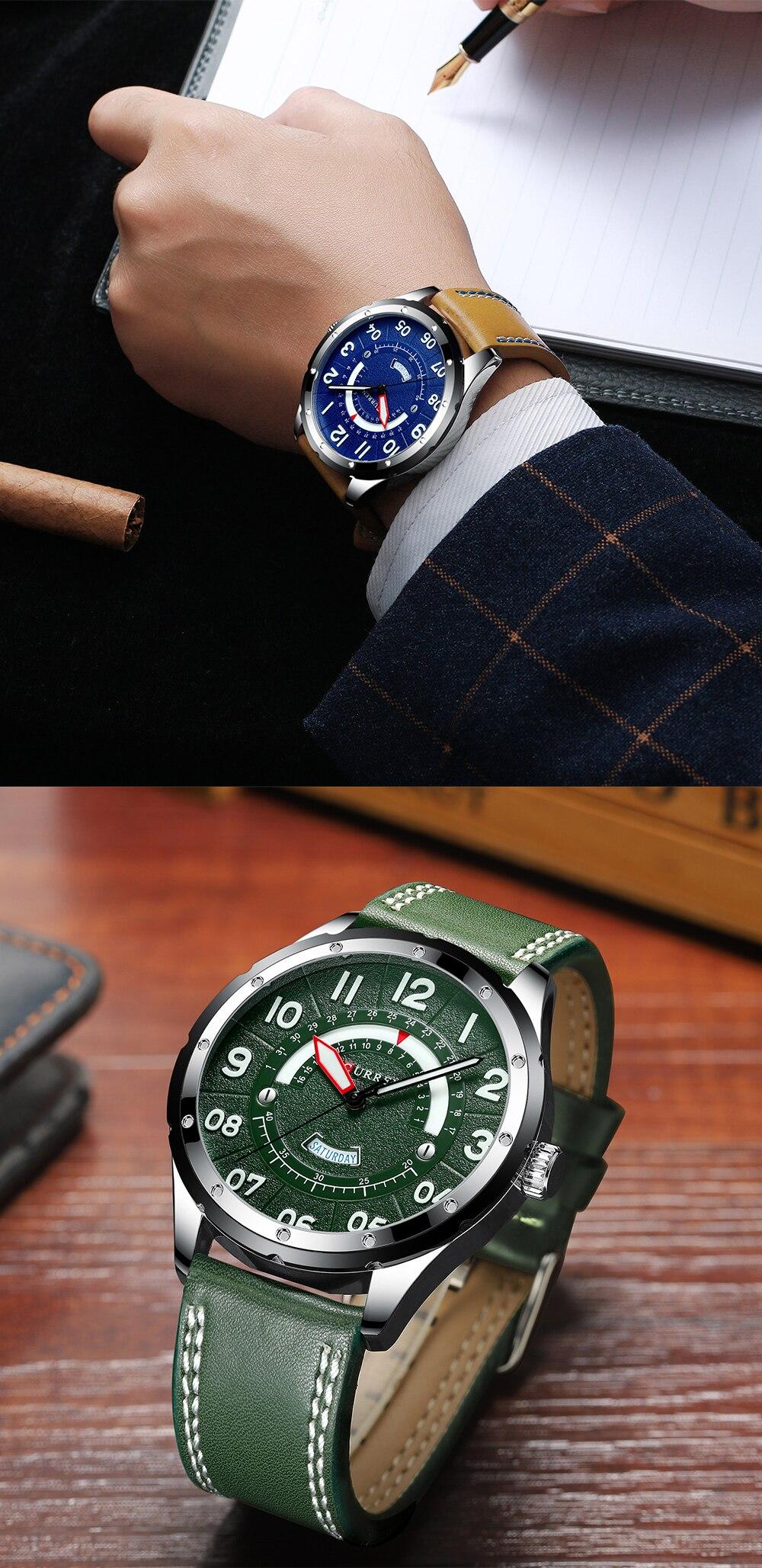 HTB17cxtaq61gK0jSZFlq6xDKFXas CURREN Date Mens Watches Luxury Sport Watch