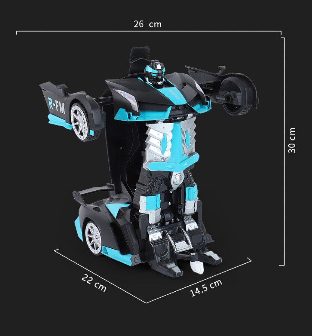 Haute qualité RC voiture 1:12 grand geste détection électrique Transformation Robots voitures de sport dérive modèle télécommande voiture jouet - 5
