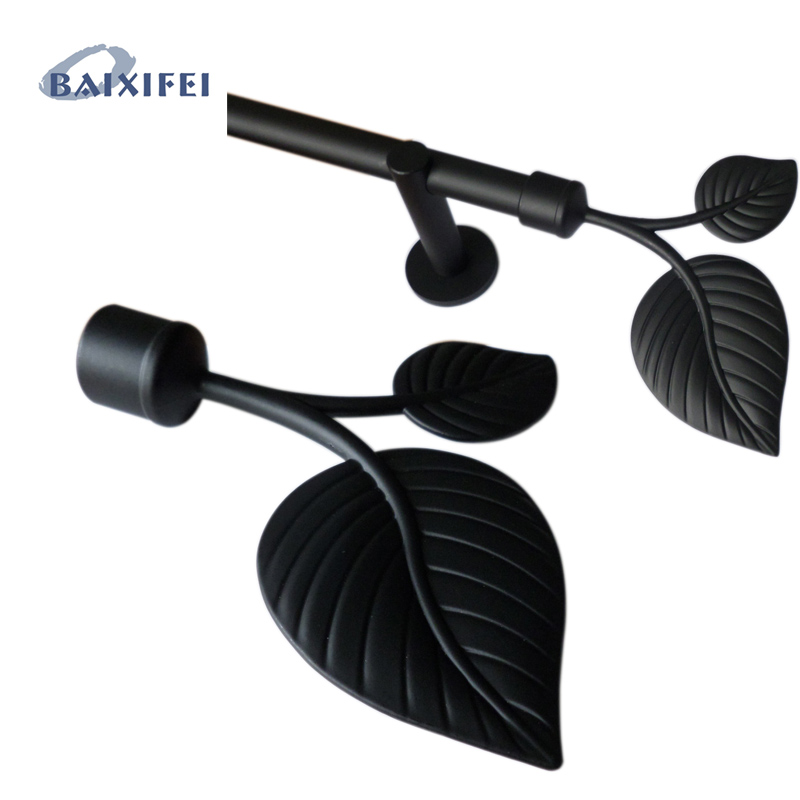 D20mm Curtain Rod Decorative Head Leaves  , Curtain Accessories Finials for Window Decoration